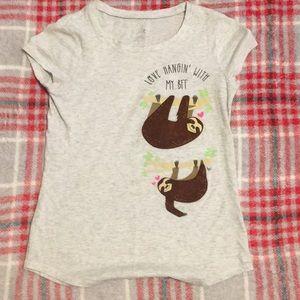 Girls youth sloth T-Shirt